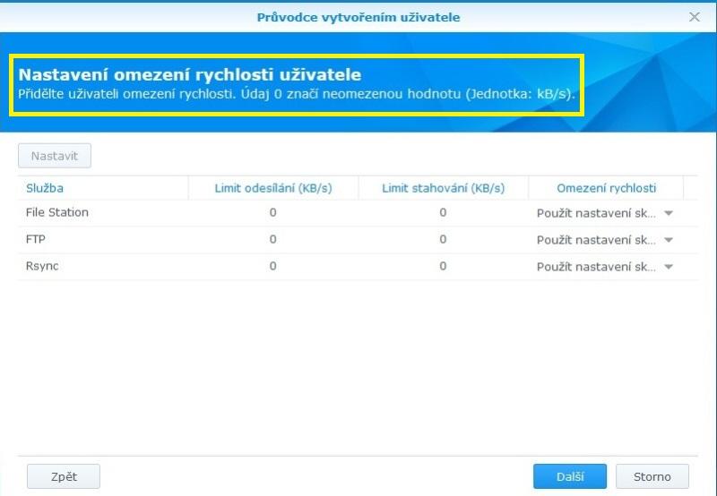 Jak vytvořit uživatele na Synology NAS 07
