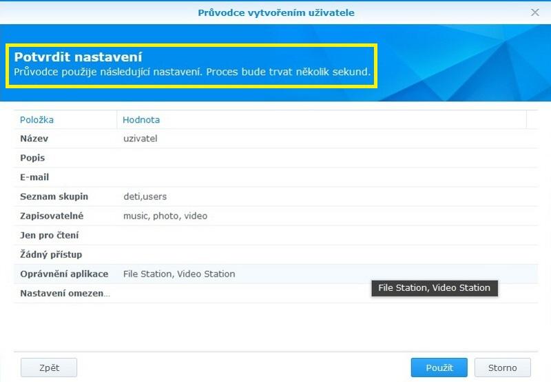 Jak vytvořit uživatele na Synology NAS 08