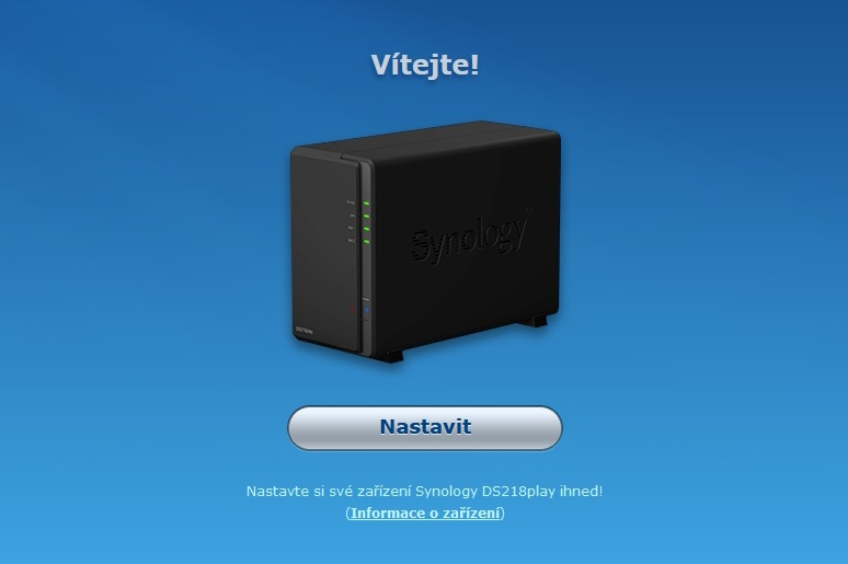 Synology Diskstation Manager instalace 02