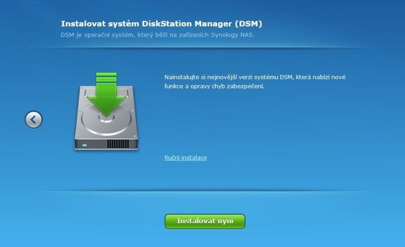 Synology Diskstation Manager instalace 03