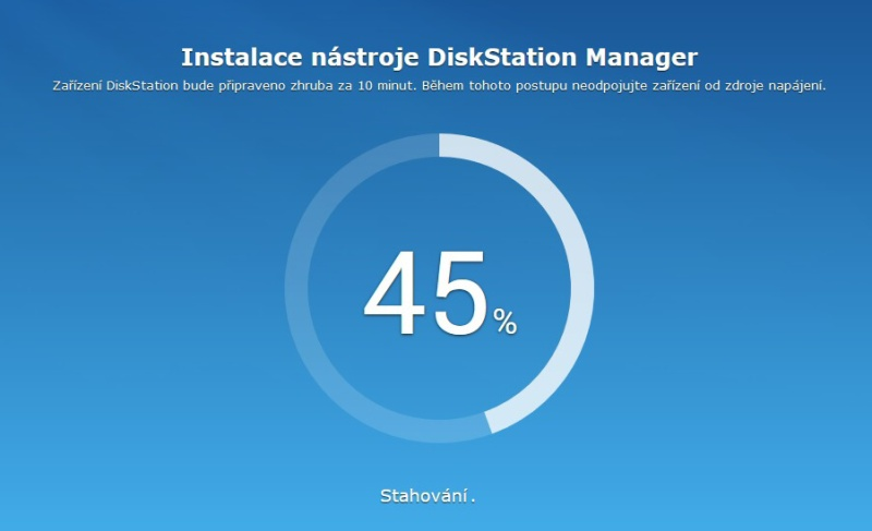 Synology Diskstation Manager instalace 05