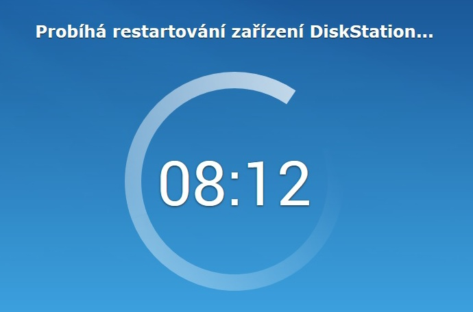 Synology Diskstation Manager instalace 06