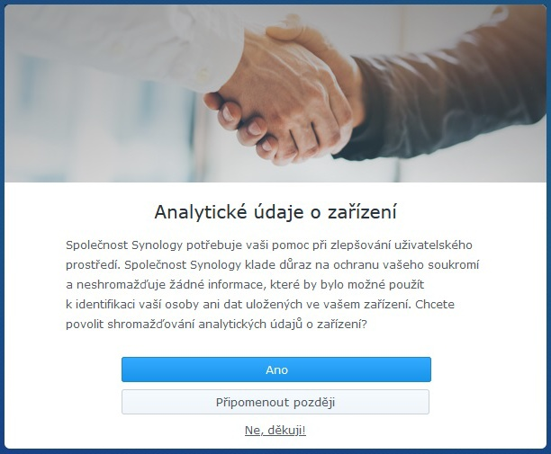 Synology Diskstation Manager instalace 12