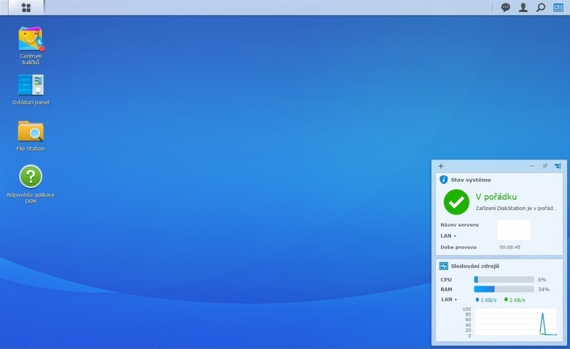 Synology Diskstation Manager instalace 13