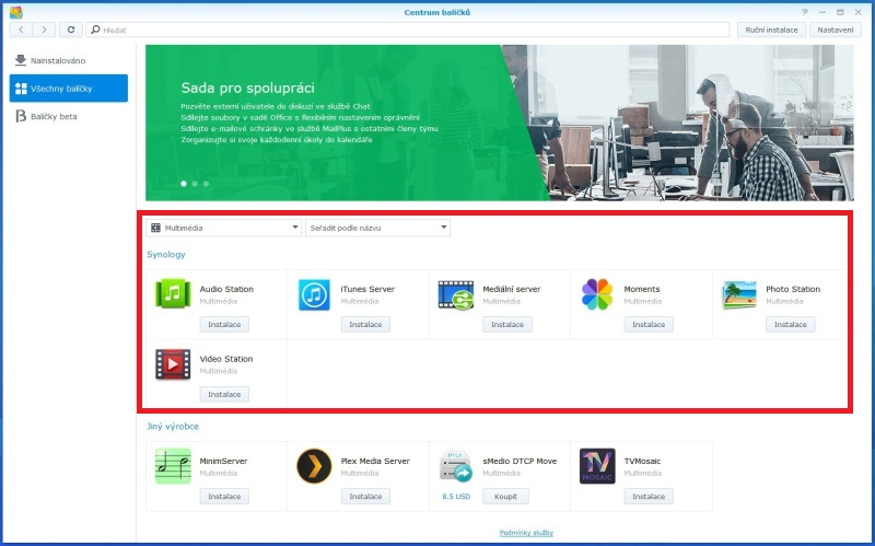 Synology Diskstation Manager instalace 17