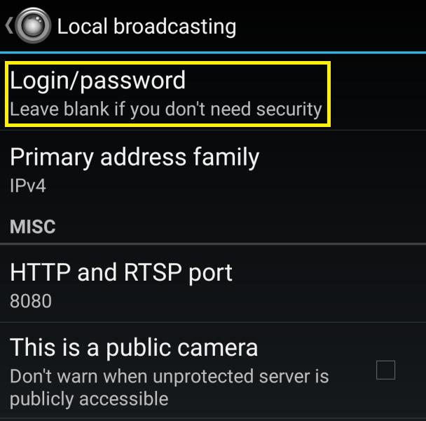 IP webcam aplikace 3
