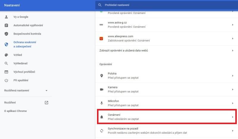 Jak blokovat oznámení v Google Chrome 2