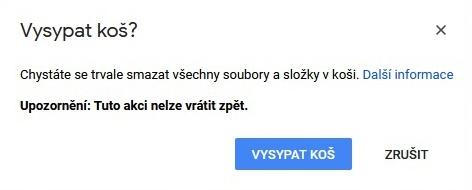 Koš Google Drive 3