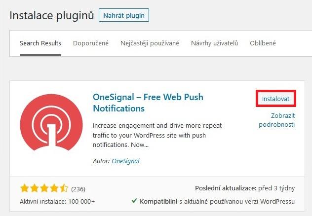 OneSignal Push notifikace 08