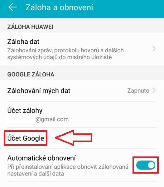 Záloha android mobilu 3