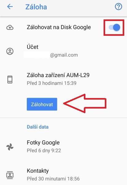 Záloha android mobilu 4