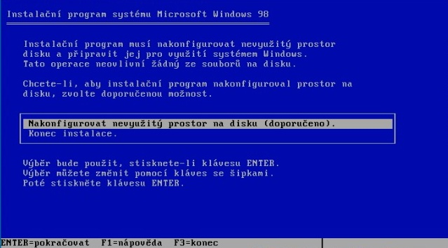 Windows 98 instalace 04