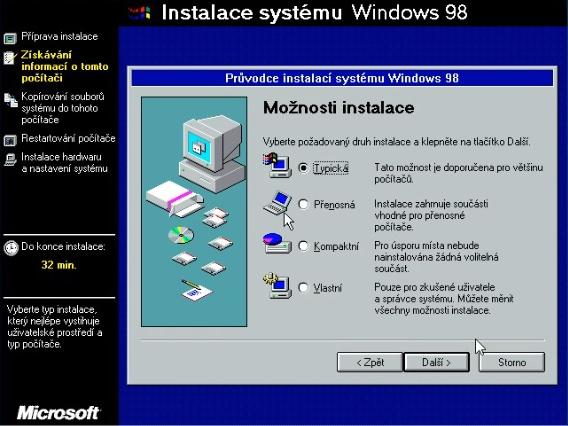 Windows 98 instalace 11
