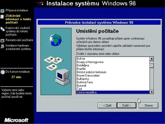 Windows 98 instalace 14