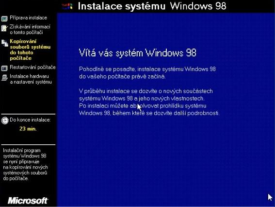 Windows 98 instalace 15