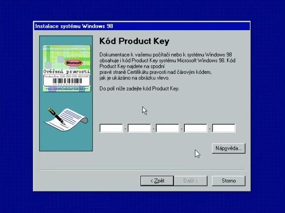 Windows 98 instalace 20