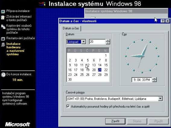 Windows 98 instalace 22
