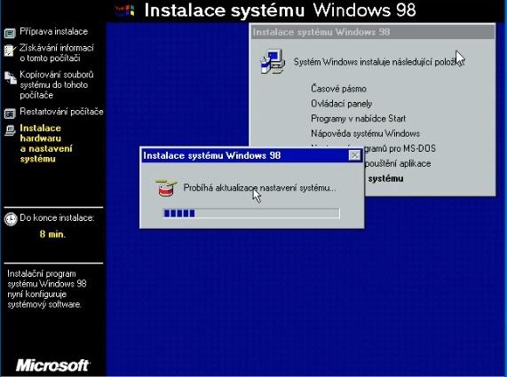 Windows 98 instalace 23