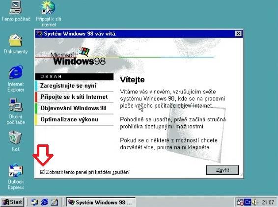 Windows 98 instalace 25