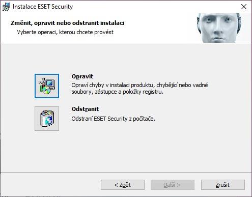 ESET rezidentní ochrana souborového systému není funkční 6