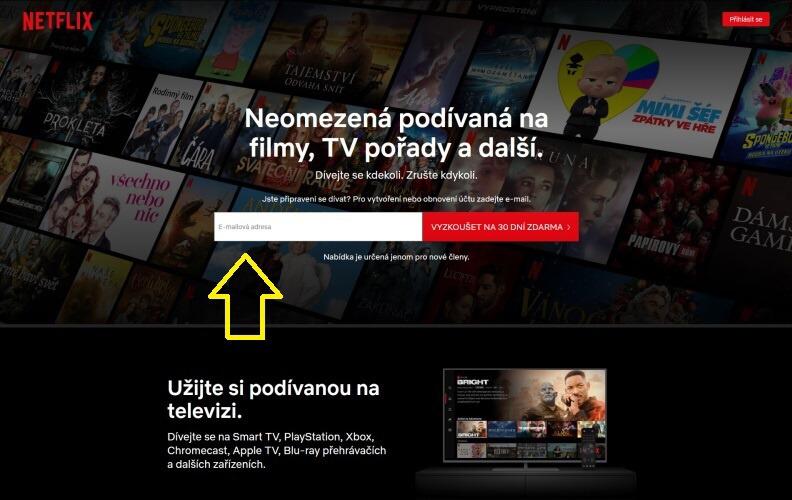 Netflix přihlášení 01