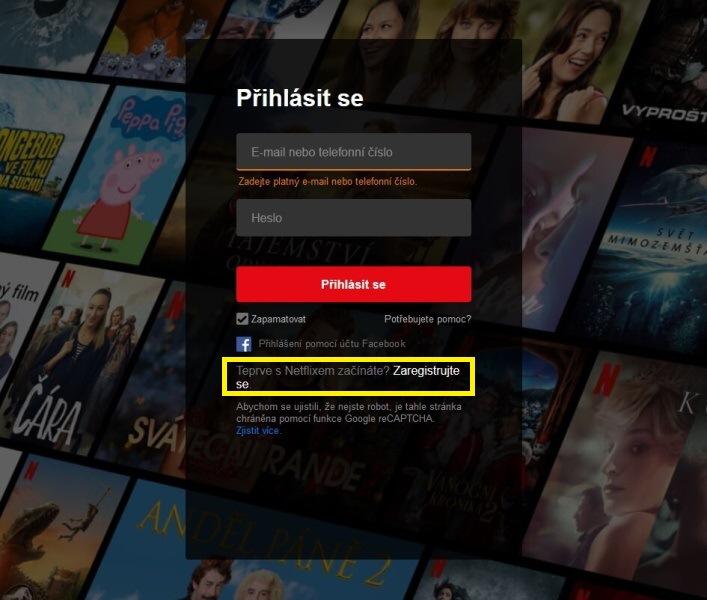 Netflix přihlášení 02
