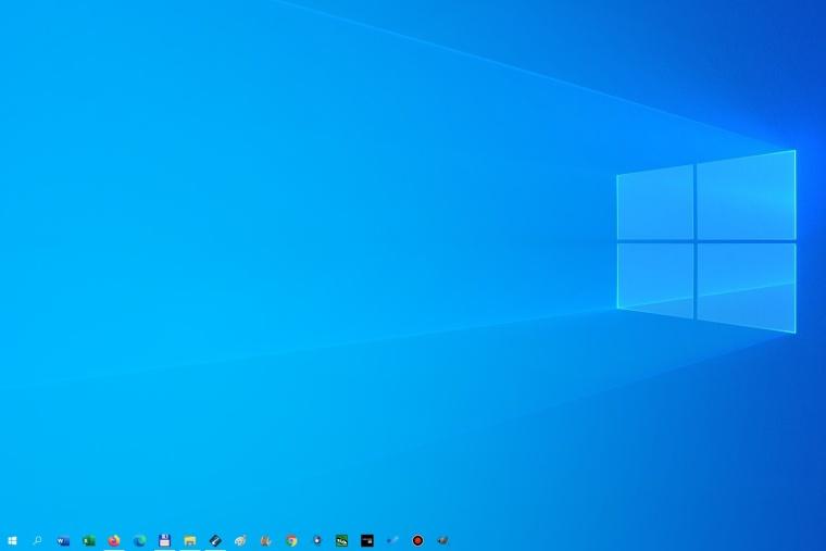 Průhledný hlavní panel Windows 10