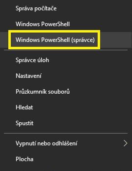 Windows PowerShell (správce)