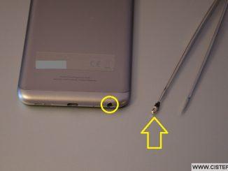 Zlomený jack konektor v mobilu