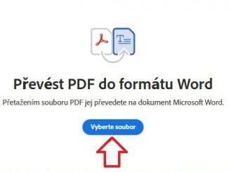 Jak převést PDF do Wordu