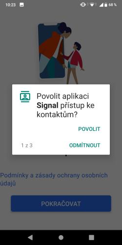 Signal aplikace 05