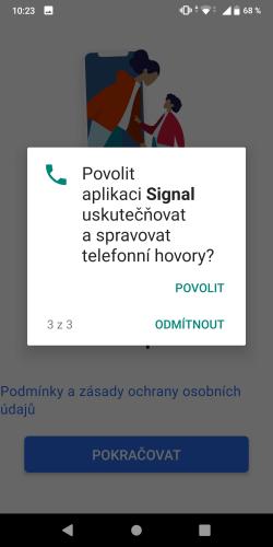 Signal aplikace 07