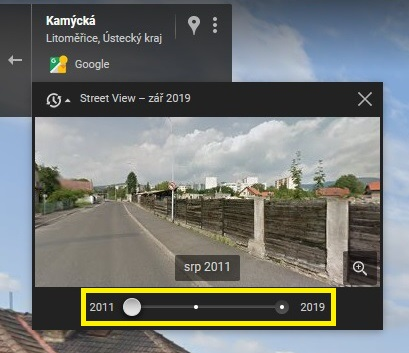 Street View Google mapy