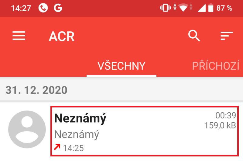 ACR - aplikace na nahrávání hovorů 12