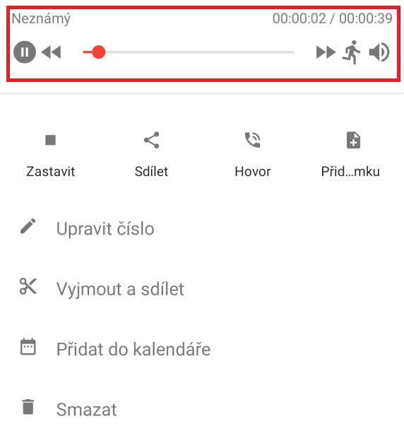 ACR - aplikace na nahrávání hovorů 13