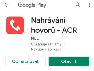 ACR - aplikace na nahrávání hovorů 2