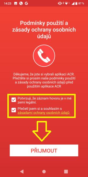 ACR - aplikace na nahrávání hovorů 3