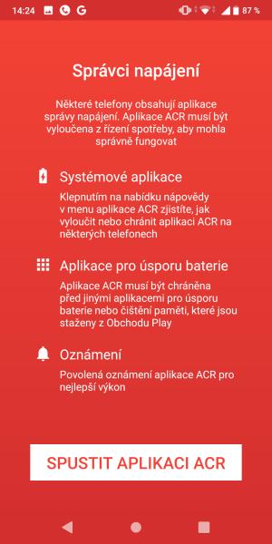 ACR - aplikace na nahrávání hovorů 9