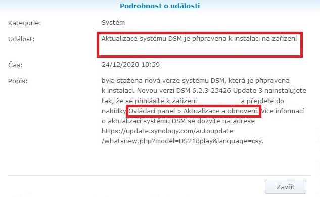 Jak aktualizovat Synology DSM 0