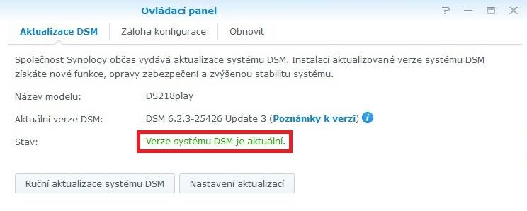 Jak aktualizovat Synology DSM 5
