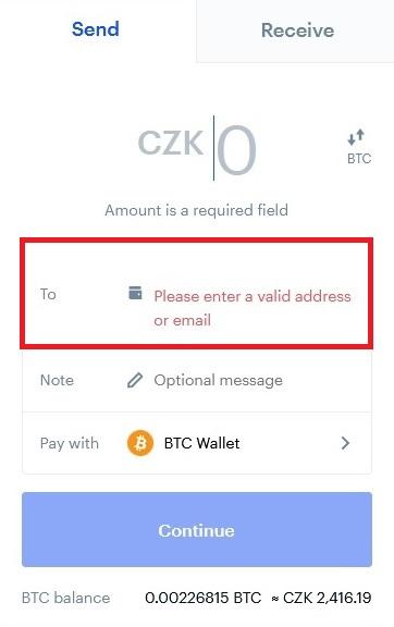 Jak dostat Bitcoin z Coinbase do Trezoru 1