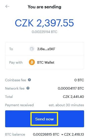 Jak dostat Bitcoin z Coinbase do Trezoru 2