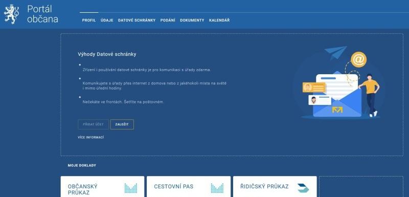 Portál občana - profil