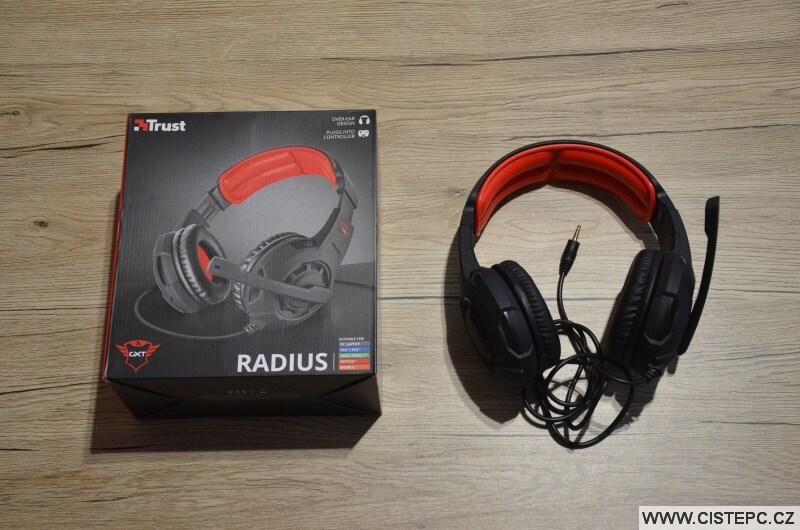 Sluchátka s mikrofonem Trust Radius