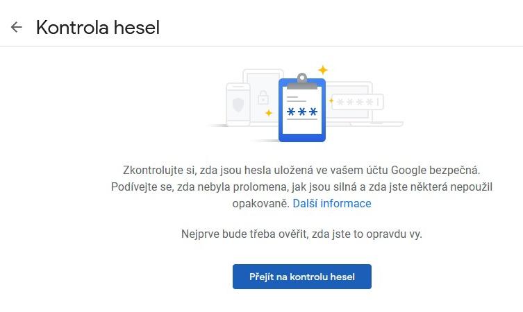 Správce hesel Google 2