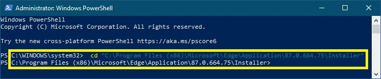 Windows PowerShell správce