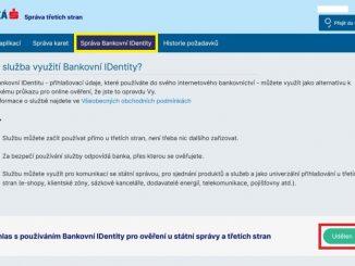 Bankovní identita Česká spořitelna 2