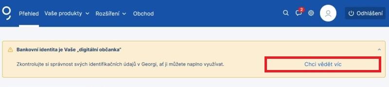 Bankovní identita Česká spořitelna 3