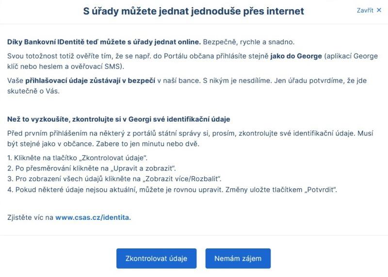 Bankovní identita Česká spořitelna 4