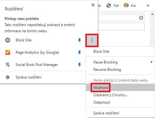 Block site Chrome 6